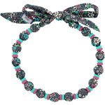 Chlidren necklace green azure flower - PPMC