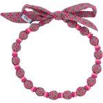 Chlidren necklace grey pink petals - PPMC