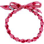 Chlidren necklace ladybird gingham - PPMC