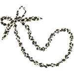Fabric necklace leopard print - PPMC