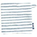 Carré Démaquillant Lavable rayé bleu blanc - PPMC