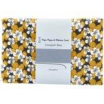 Coupon tissu 1 m fleurs moutarde ex1055 - PPMC