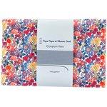 Coupon tissu 1 m fleuri orange bleu blanc ex1064 - PPMC