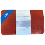 1 m fabric coupon lurex terracotta gauze - PPMC