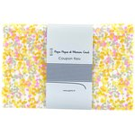 1 m fabric coupon mimosa jaune rose - PPMC