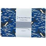 Coupon tissu 1 m orque bleue - PPMC
