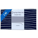 1 m fabric coupon striped silver dark blue - PPMC