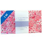 Coupon tissu 1 m violette rose - PPMC