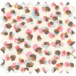 Coupon tissu 50 cm confetti aquarelle - PPMC