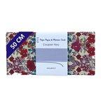 Coupon tissu 50 cm coquelicot - PPMC