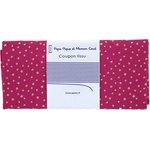 Coupon tissu 50 cm etoile or fuchsia - PPMC