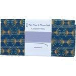 Coupon tissu 50 cm eventail or vert - PPMC
