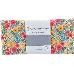 Coupon tissu 50 cm fleuri coloré ex1049 - PPMC