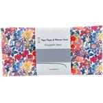 Coupon tissu 50 cm fleuri orange bleu blanc ex1064 - PPMC