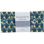 Coupon tissu 50 cm flores geo verde amarillo ex1071 - PPMC