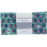 Coupon tissu 50 cm flores geométricas verde fucsia ex1072 - PPMC