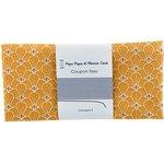 Coupon tissu 50 cm graphique ocre ex1077 - PPMC