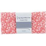 Coupon tissu 50 cm petites fleurs rougeex1087 - PPMC