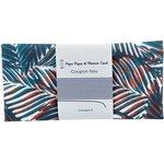 Coupon tissu 50 cm feuillage marine - PPMC