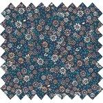 Coupon tissu 50 cm paquerette marine - PPMC