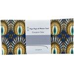 Coupon tissu 50 cm plumes de paon - PPMC