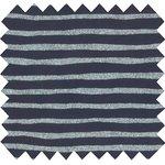 Coupon tissu 50 cm striped silver dark blue - PPMC