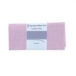 Coupon tissu 50 cm vichy rose - PPMC