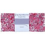 Coupon tissu 50 cm pink violette - PPMC