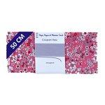 Coupon tissu 50 cm violette rose - PPMC