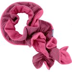 Twisted fleece scarf étoile or fuchsia - PPMC