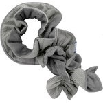 Twisted fleece scarf étoile or gris - PPMC