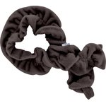 Twisted fleece scarf brown - PPMC
