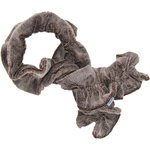 Twisted fleece scarf frosted brown - PPMC