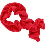 Twisted fleece scarf red - PPMC
