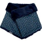 Adult Fur scarf snood bulle bronze marine - PPMC