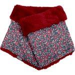 Adult Fur scarf snood camelias rubis - PPMC