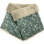 Adult Fur scarf snood fleuri kaki - PPMC