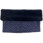 Children fur scarf snood etoile or marine  - PPMC