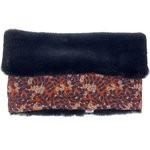 Children fur scarf snood vermilion foliage - PPMC