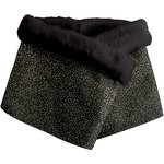 Fleece scarf snood noir pailleté - PPMC