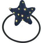 Pony-tail elastic hair star navy gold star - PPMC