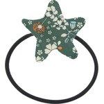 Elastique cheveux étoile fleuri kaki - PPMC