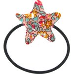 Elastique cheveux étoile floral pêche - PPMC