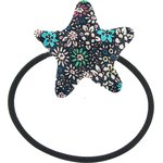 Pony-tail elastic hair star green azure flower - PPMC