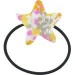 Elastique cheveux étoile mimosa jaune rose - PPMC