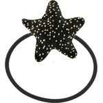 Pony-tail elastic hair star noir pailleté - PPMC