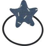 Estrella elástica para el pelo jeans de paja plateados - PPMC