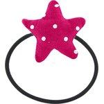 Elastique cheveux étoile pois fuchsia - PPMC