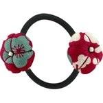 Goma de pelo con flores cerezo rubí - PPMC
