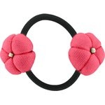 Japan flower pony-tail holder coral - PPMC
